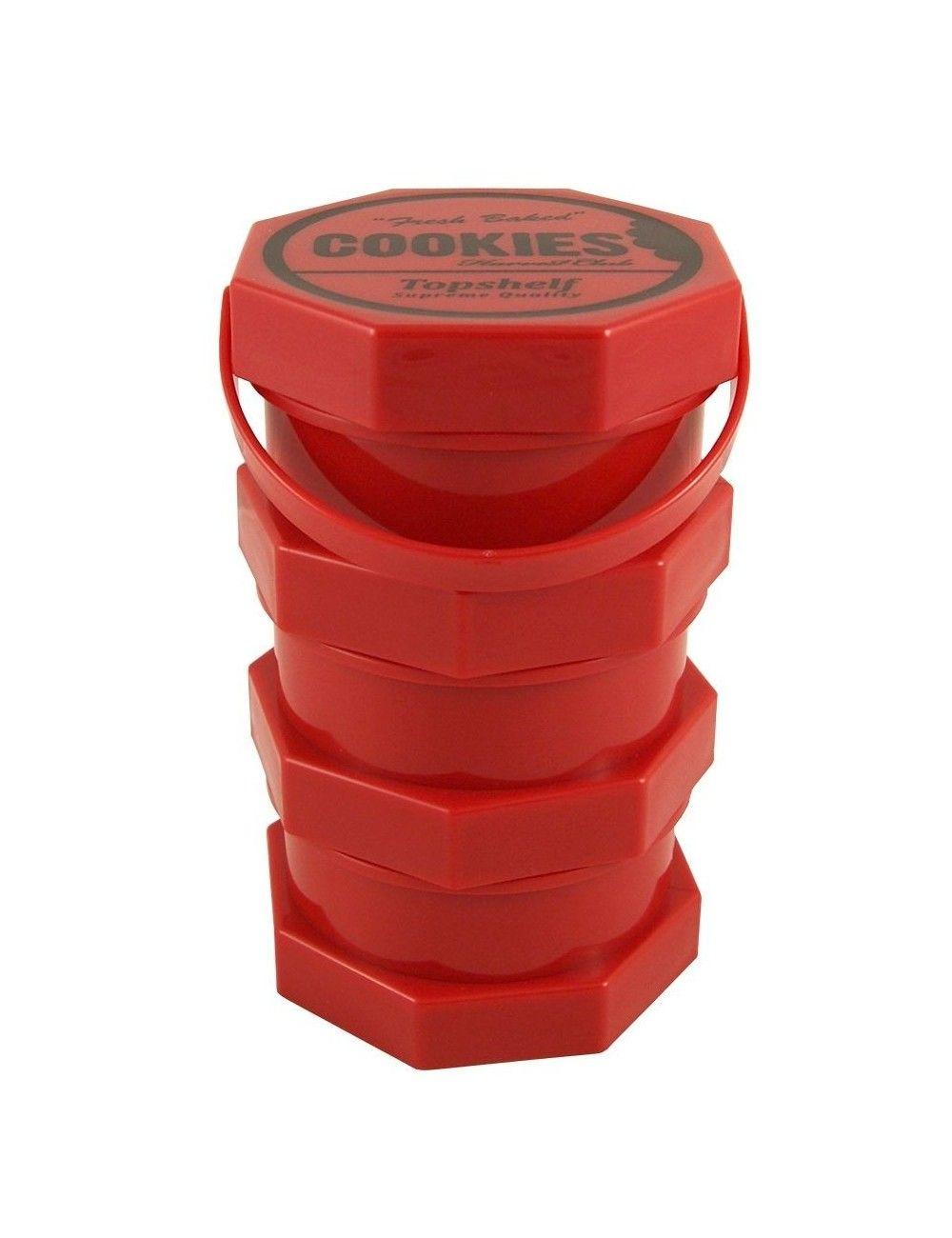 Cookies Storage Jar Regular Red