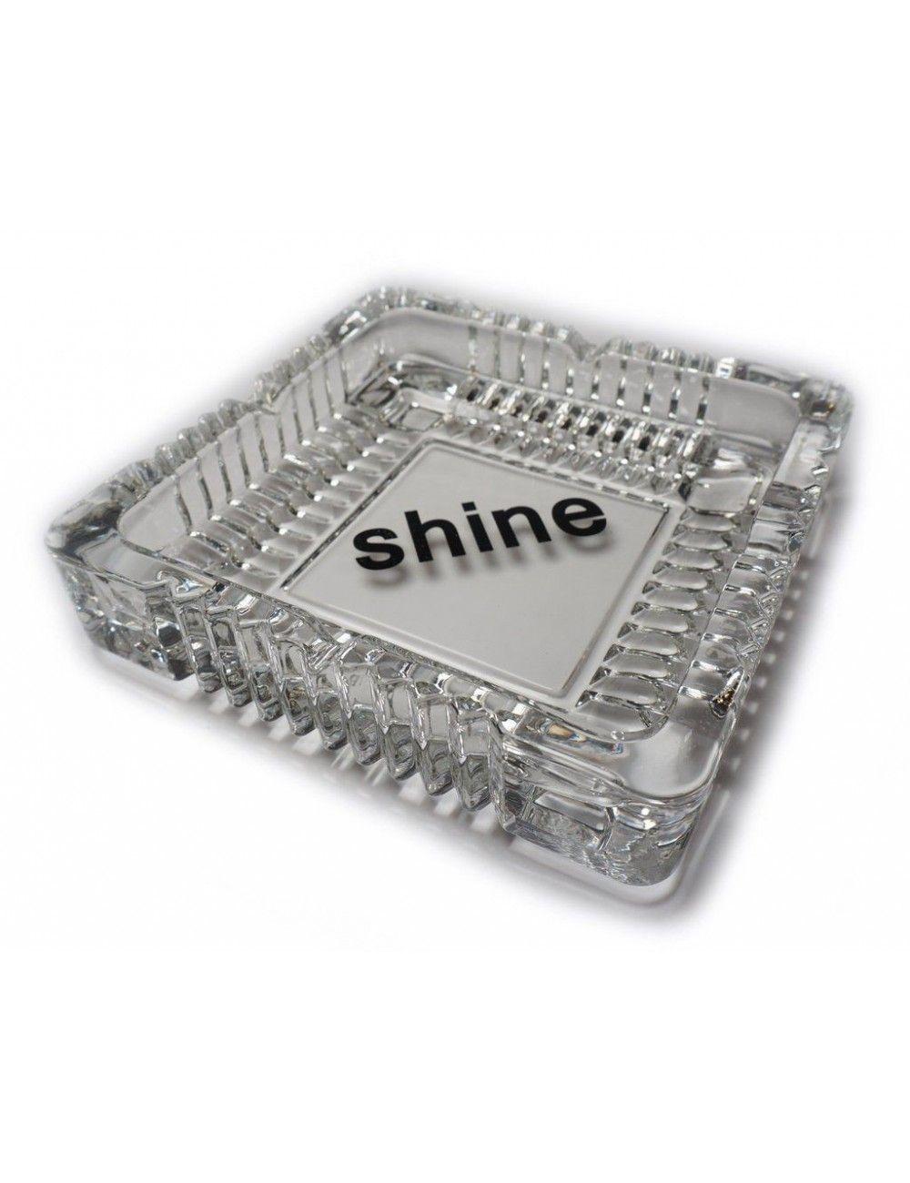 Shine Logo Glass Ashtray