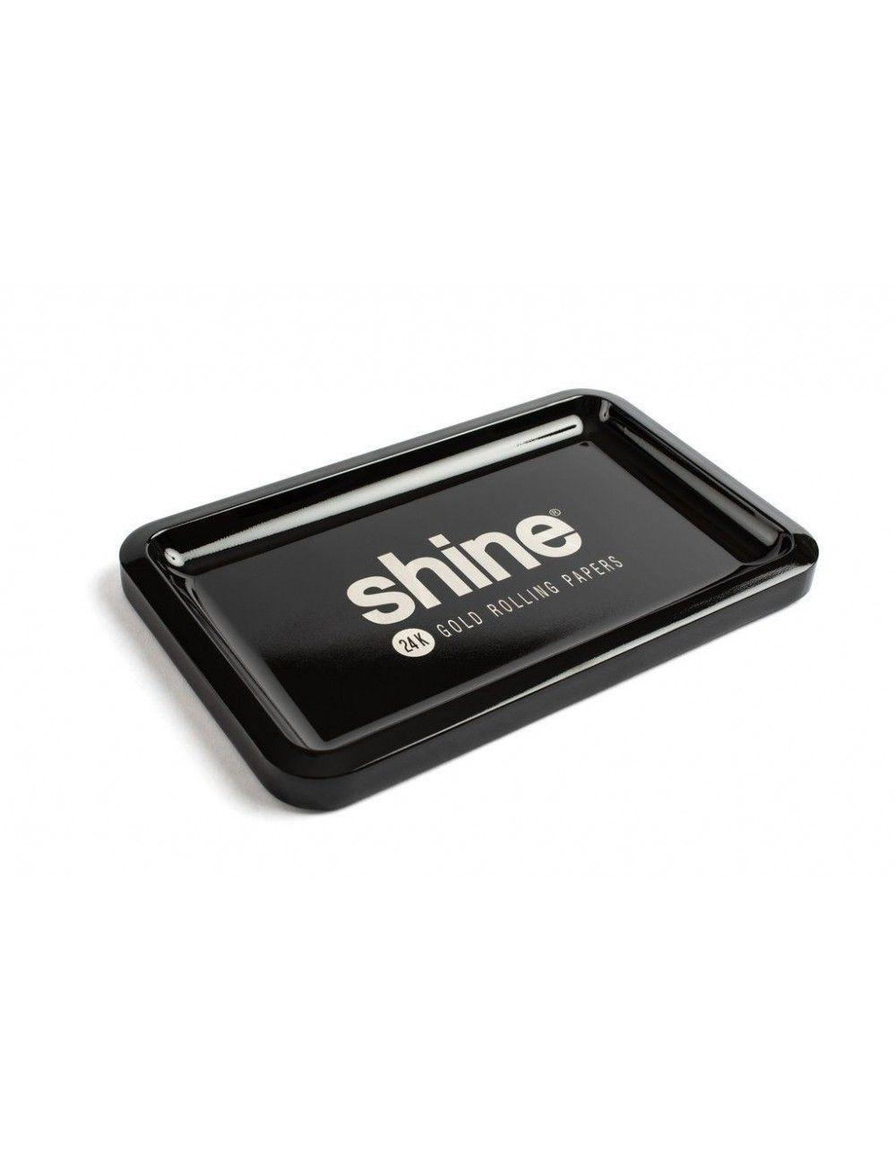 Shine Black Rolling Tray