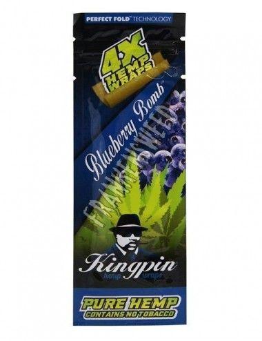 Kingpin Hemp Wraps Rolls Blueberry Bomb