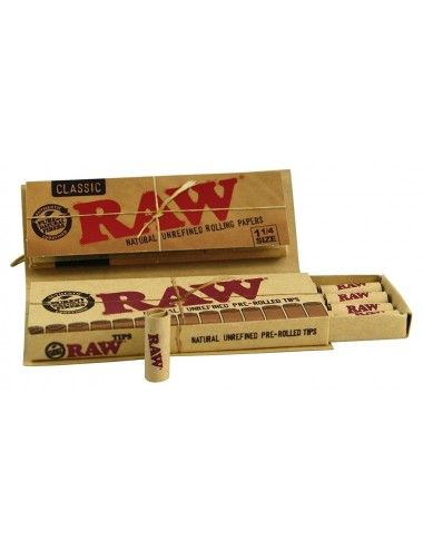 RAW Connoisseur 1¼ Size PREROLLED TIPS