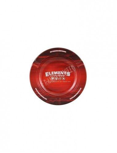 Elements RED Metal Ashtray Plain