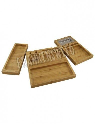 Bandeja RAW Triple Flip Bamboo