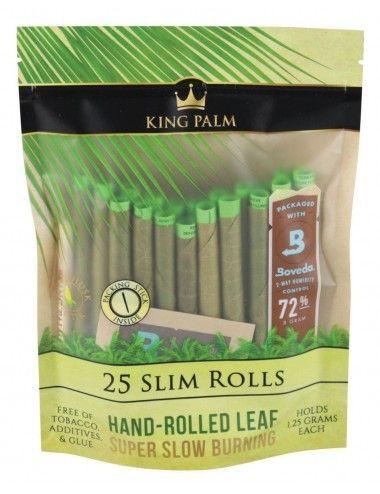 King Palm Cone Leaf - 25 Slim Rolls