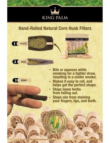King Palm 9mm Corn Husk - 5 Filters