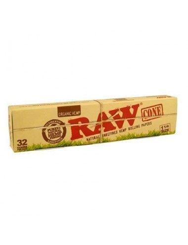 RAW Organic Cones 1 1/4 Size Minibox
