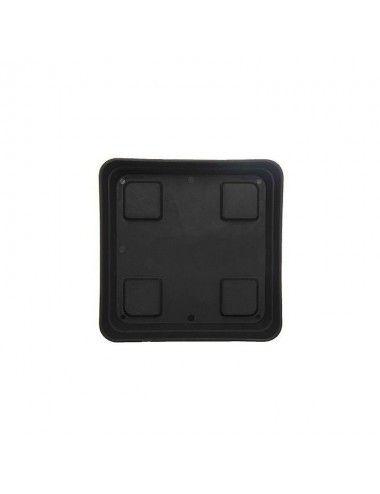 Plato cuadrado negro 20x20 cm