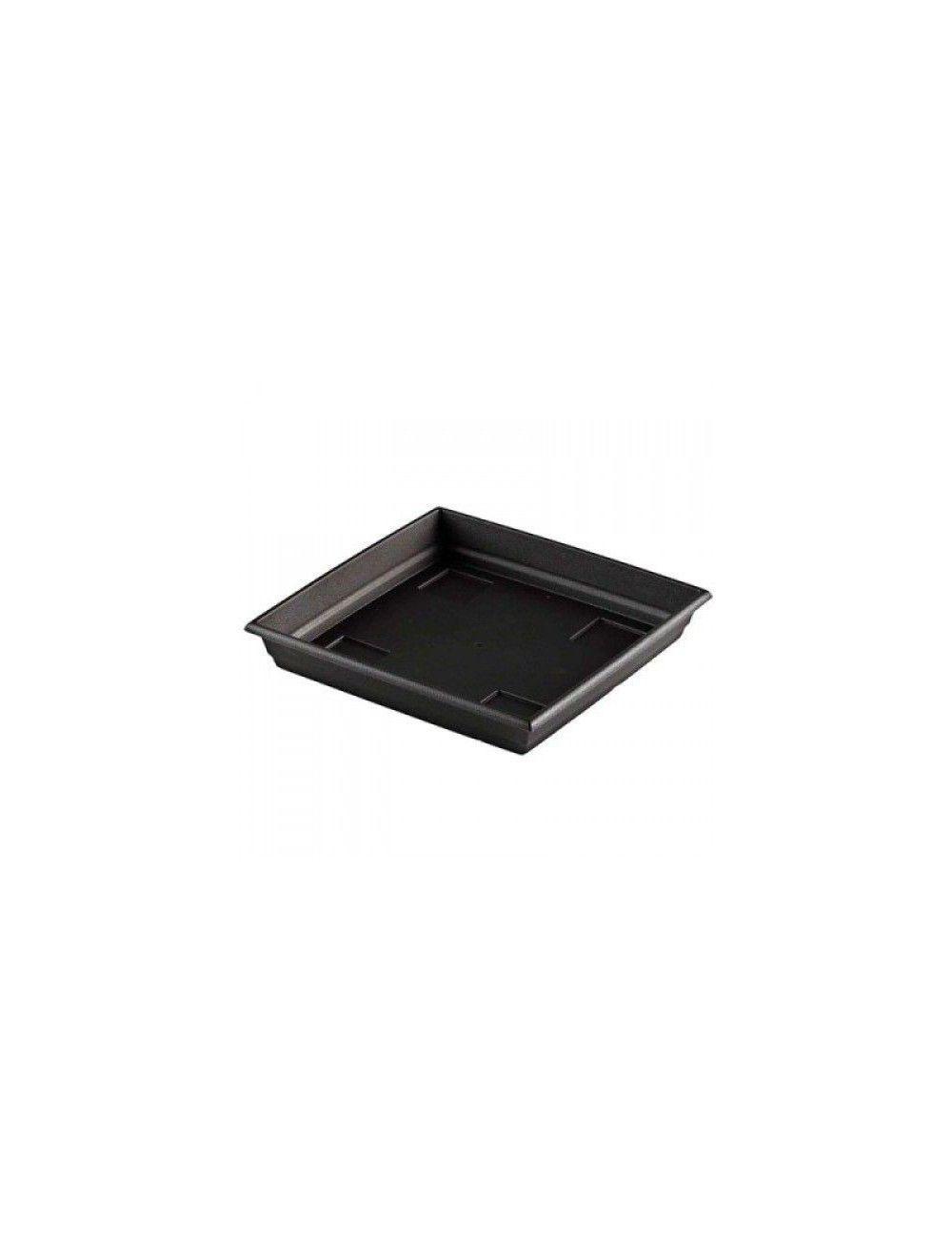 Plato cuadrado negro 14x14cm