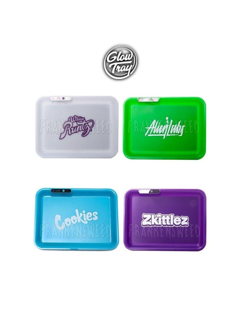 Comprar Glow Tray en España, los mejores diseños: Zkittlez, Alien Labs, Runtz, Cookies...