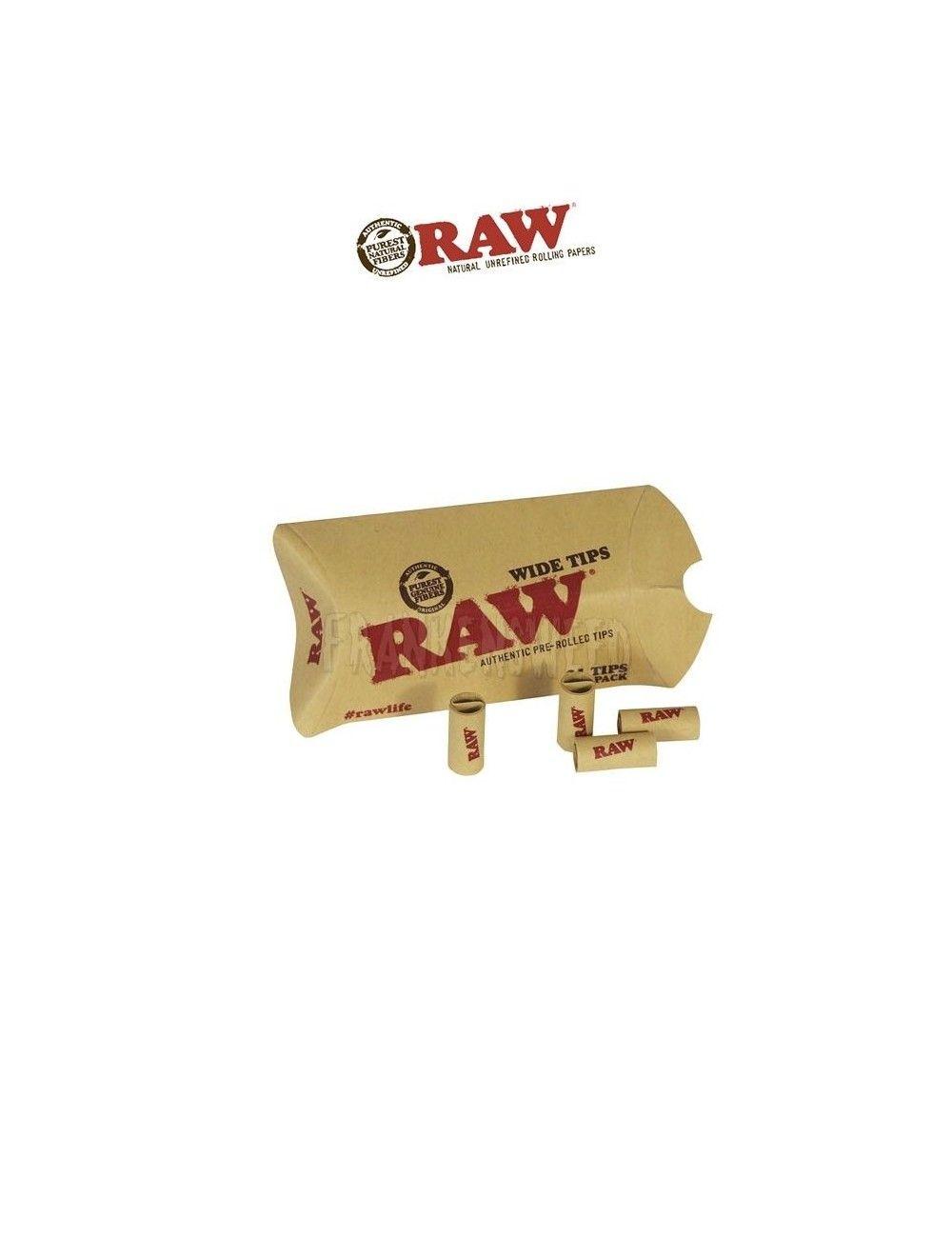 Comprar boquillas RAW Tips Prerolled Wide en Frankensweed Shop Online en España.